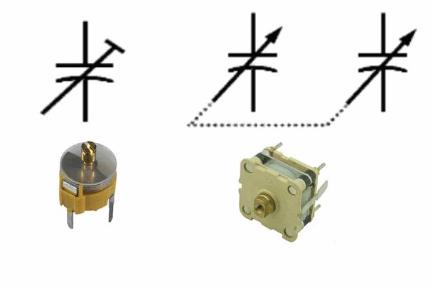 نماد خازن متغیر