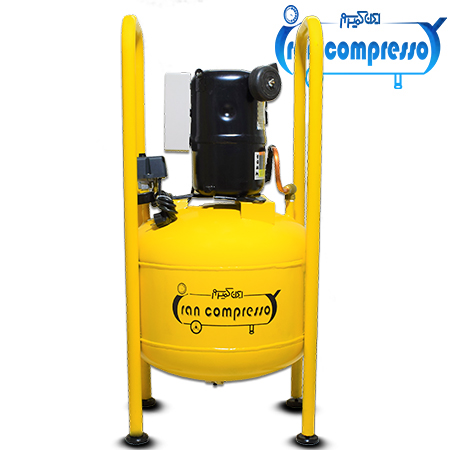 پمپ باد 50 لیتری با موتور 2.5 اسب کولر گازی